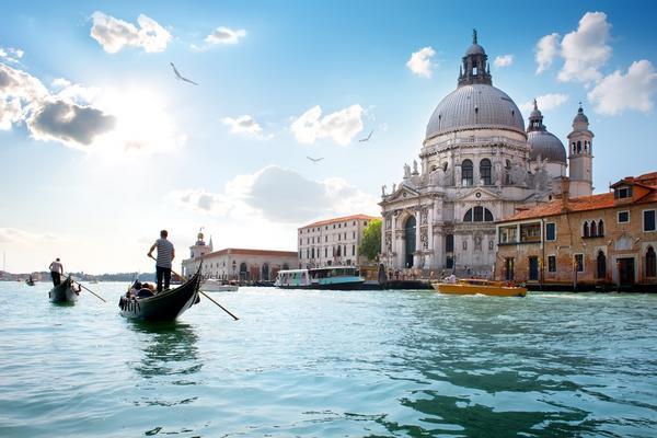 Stara katedra Santa Maria della Salute w Wenecji, Włochy