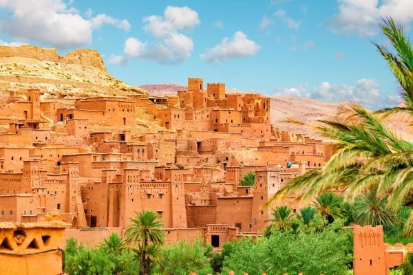 Kasbah Ait Ben Haddou w górach Atlas w Maroku