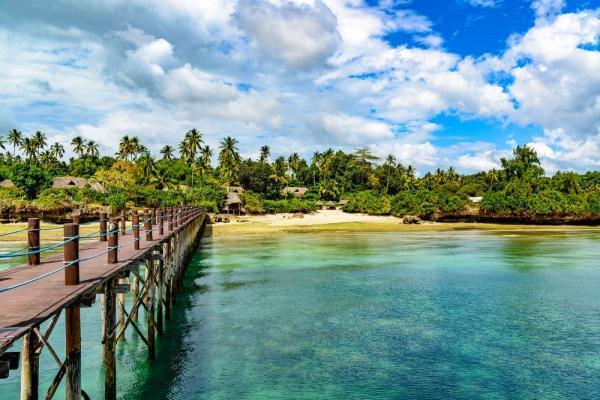 Panorama wybrzeża Zanzibar, Tanzania
