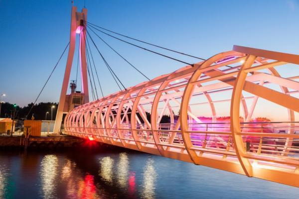 Most obrotowy w Ustce