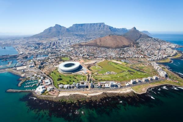 Widok z lotu ptaka na Kapsztad, RPA