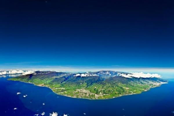 Panoramiczny widok Reunionu