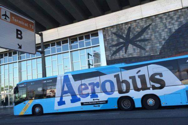 Aerobus, Aerobús, Autobus z lotniska w Barcelonie