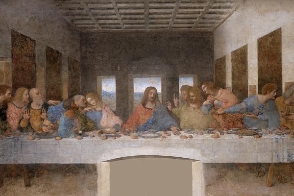 """""""Ostatnia wieczerza"""" autorstwa Leonarda da Vinci"""