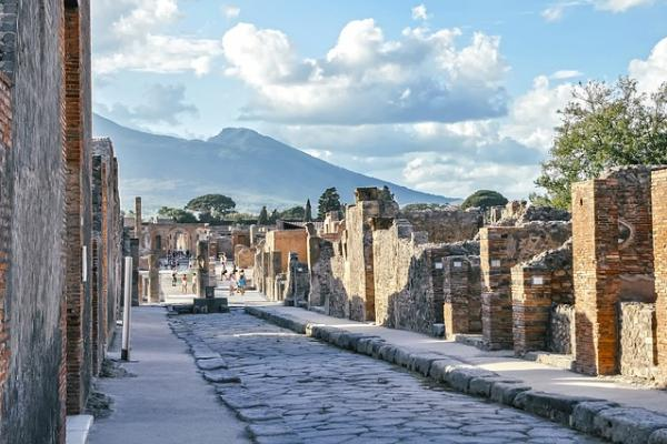 Wezuwiusz, Pompeje