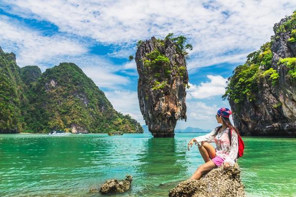 Thailand James Bond stone Island, Phang Nga