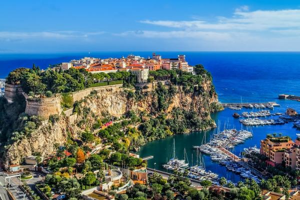 Principaute Monako i Monte Carlo na południu Francji