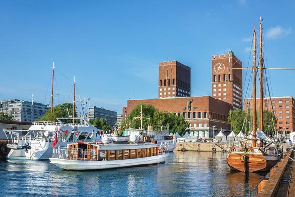 Widok na port w Oslo