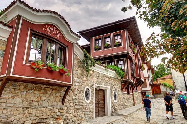 Płowdiw pejzaż miejski, Bułgaria
